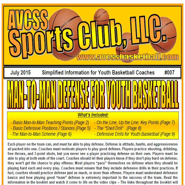 Man to Man Defense for Youth Basketball
