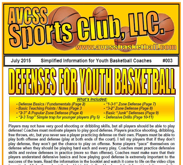 Zone Defenses for Youth Basketball